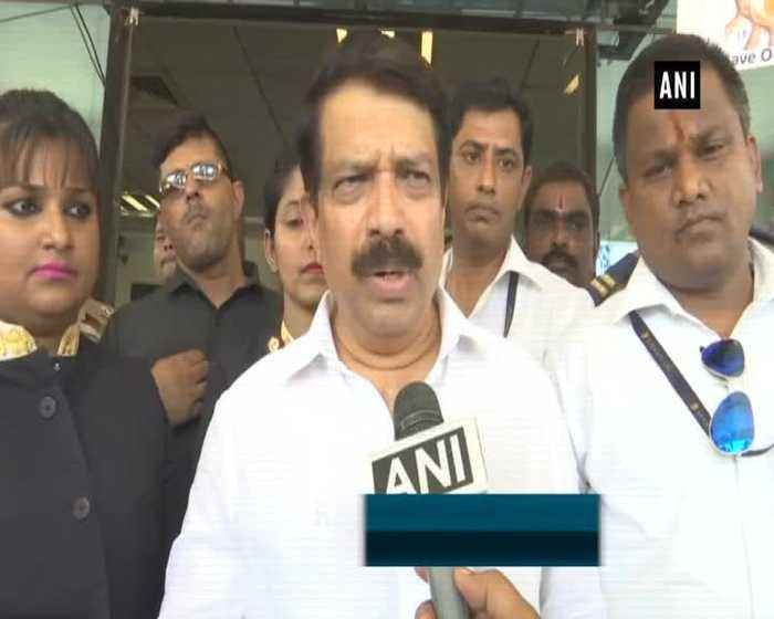 Jet Airways employees hold protest at Mumbai Airport