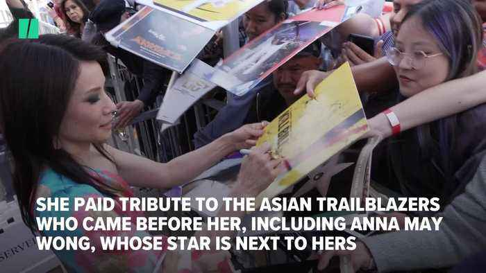 Actor Lucy Liu Gets Hollywood Star