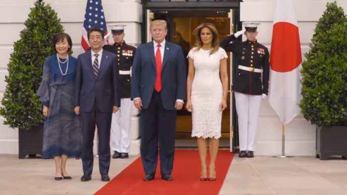 President Trump Gave A Royal Welcome To Prime Minister Abe