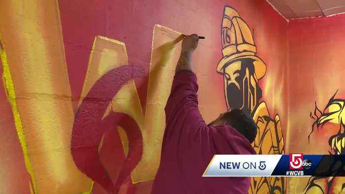 New mural honors Worcester's fallen firefighters