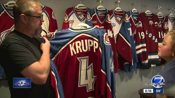 Avalanche fan collects every version of team's jersey (and they're game-worn)