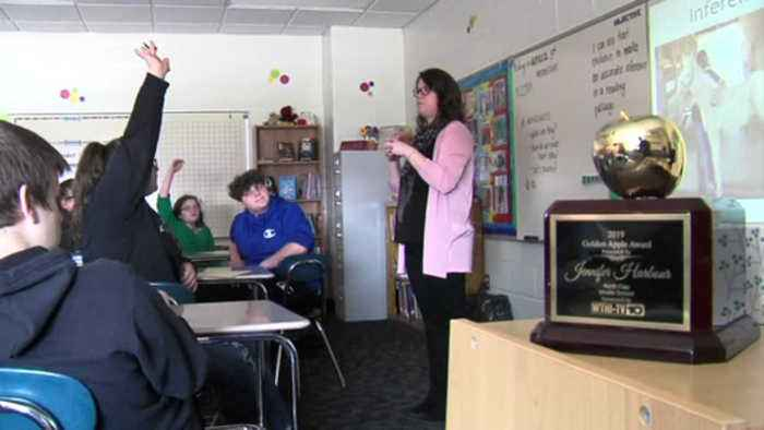 Golden Apple: Giving kids a shoulder to lean on at North Clay Middle School