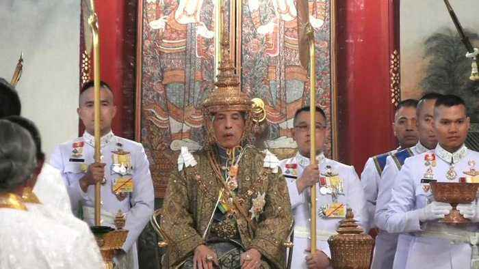 Watch: Thailand's King Maha Vajiralongkorn is crowned on the first day of coronation rites