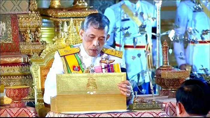 Thailand's King Vajiralongkorn crowned as divine monarch