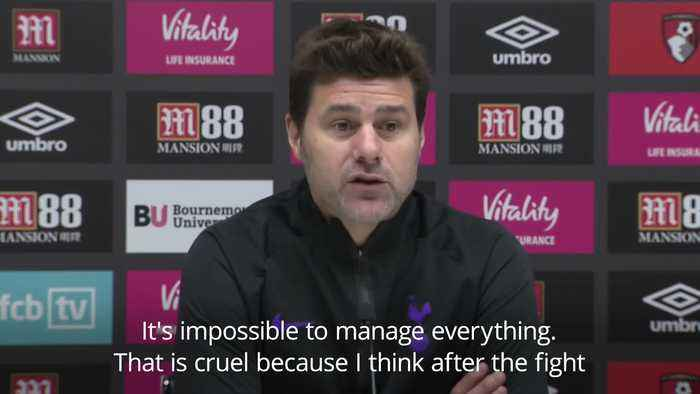 Mauricio Pochettino accepts referee's decisions after two red cards