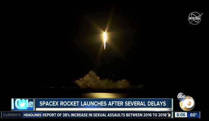 SpaceX rocket launches after several delays