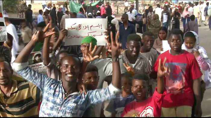 Huge crowds join protest against Sudan's military leaders