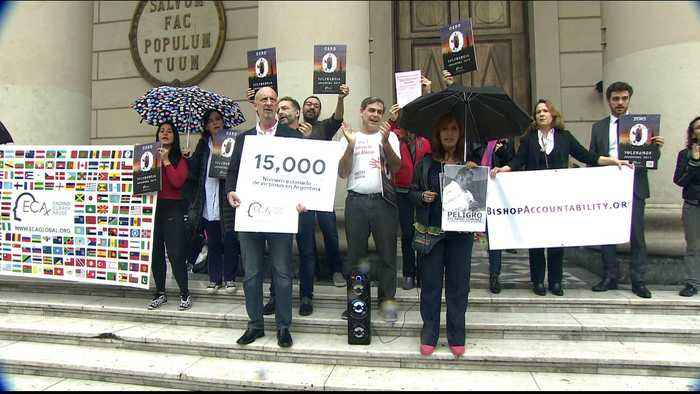 Activists call on Pope Francis to implement Vatican's 'zero tolerance' policy for sexual abuse by clergy in Argentina.
