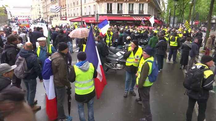 Weekly 'yellow vest' protest is small after May Day's big turnout