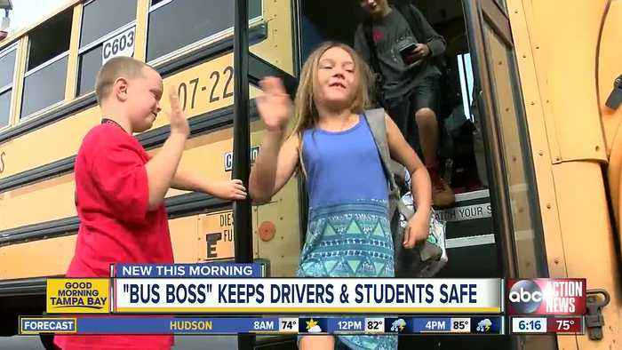 7-year-old 'Buss Boss' at elementary school helps keep students and bus drivers safe