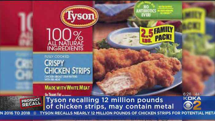 Nearly 12 Million Pounds Of Tyson Chicken Strips Have Been Recalled