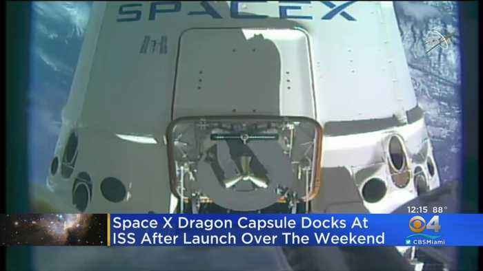 SpaceX Capsule Reaches Space Station