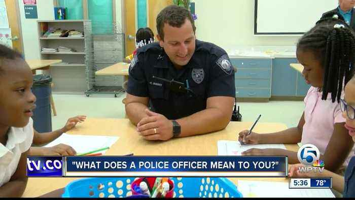 Students in Boynton Beach draw to show appreciation for Law Enforcement Officers