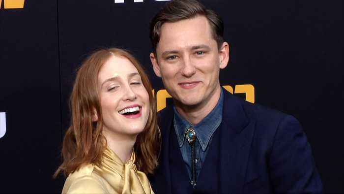 Lewis Pullman and Caroline Fails 'Catch 22' Premiere Black Carpet