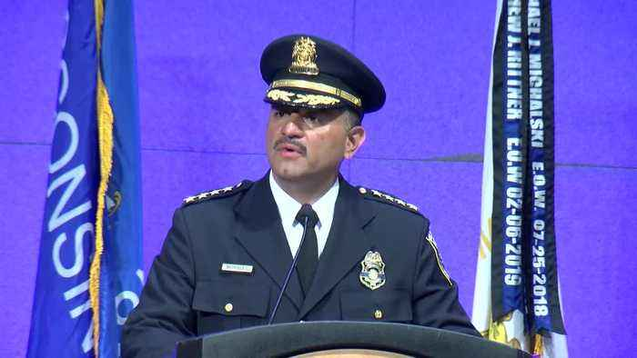 """Milwaukee Police Chief Alfonso Morales on 3 recent fallen officers: """"They will never be forgotten."""""""