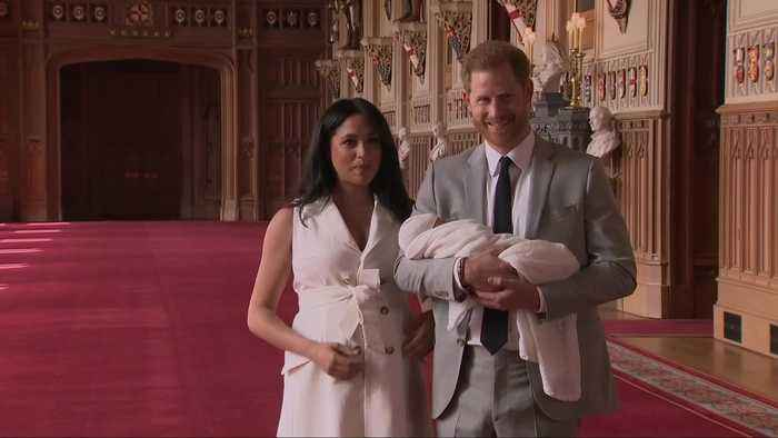 Royal baby: Harry and Meghan's son makes first appearance