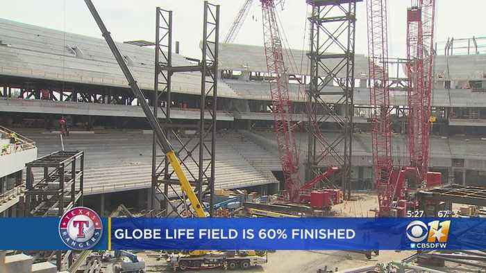 Rangers Say Future Arlington Home Globe Life Field Is About 60 Percent Complete