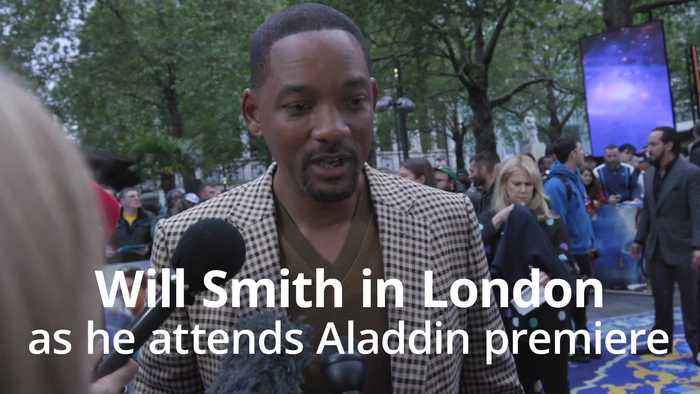 Will Smith pays tribute to Robin Williams at Aladdin premiere in London