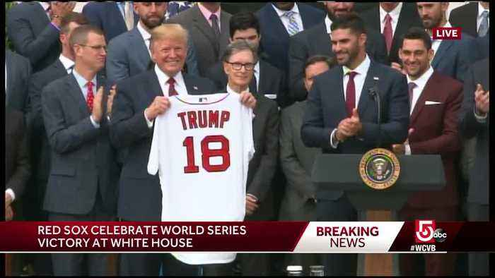 'It's a very high honor' Red Sox players visit White House