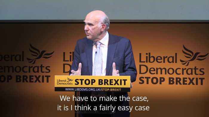 Vince Cable launches Liberal Democrats European election manifesto