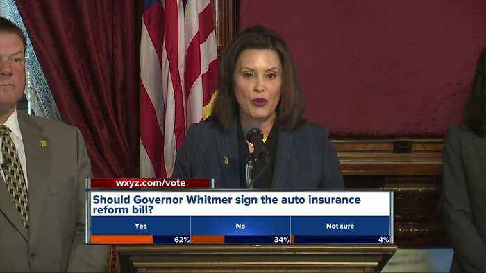Whitmer says House bill cutting auto insurance rates doesn't meet her standards