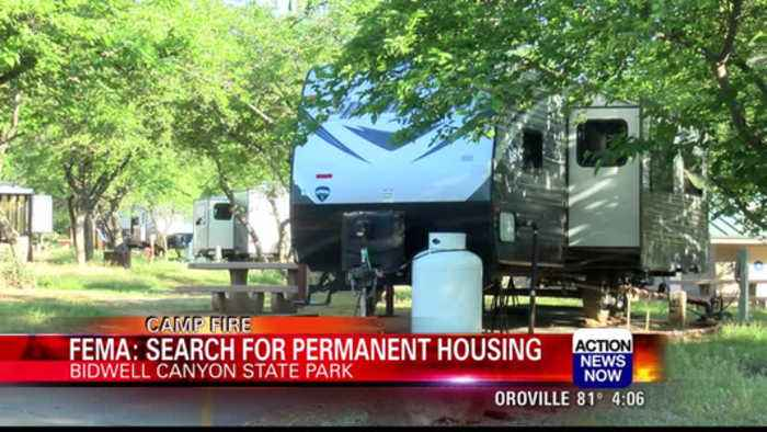 Camp Fire survivors at Lake Oroville search for permanent housing