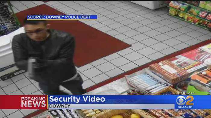 Police Release Video Of Suspect In Downey Liquor Store Shooting That Left Owner Dead