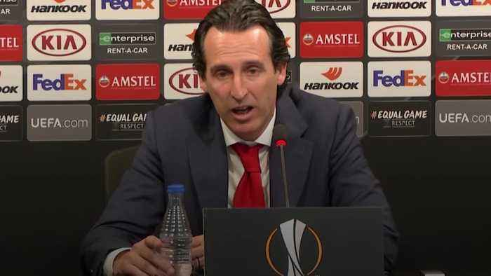 Emery praises Aubameyang and Lacazette after Europa League win
