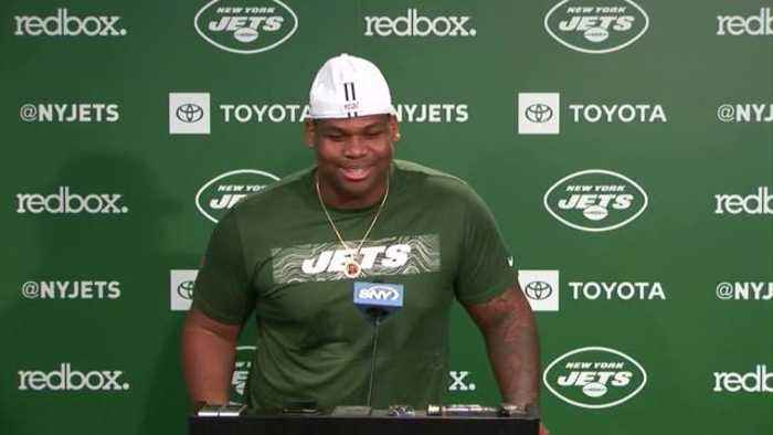 New York Jets rookie defensive tackle Quinnen Williams shares reaction to meeting teammates