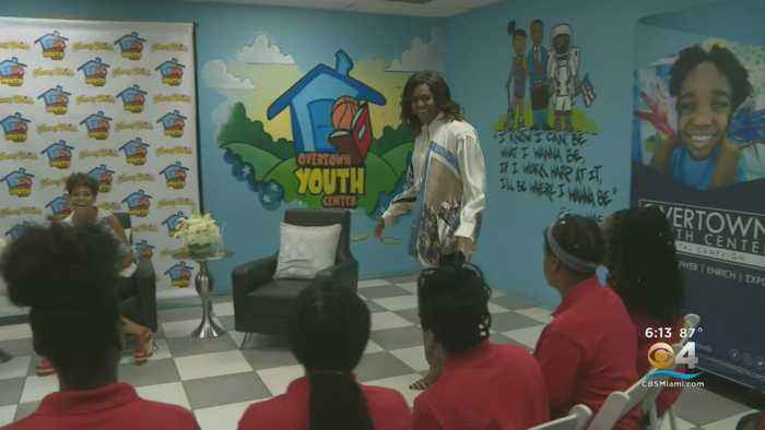 Michelle Obama Pays Surprise Visit To South Florida Students