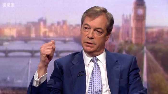 Nigel Farage accuses Andrew Marr of 'ridiculous interview' live on air