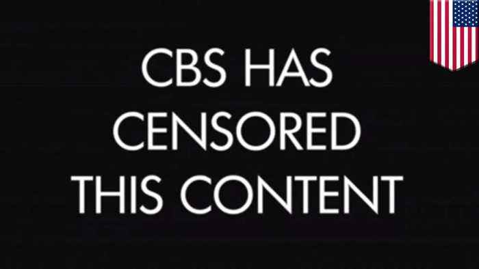 CBS self-sensors TV show segment on Chinese censorship