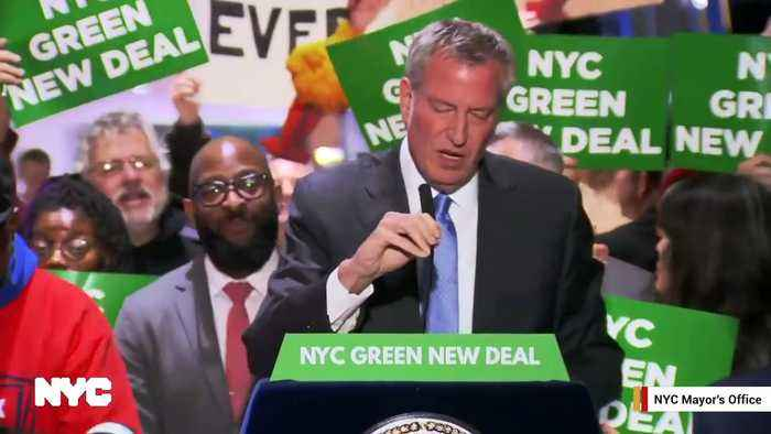 Watch: NYC Mayor Bill de Blasio's Press Conference At Trump Tower Disrupted By Loud Music And Trump Supporters