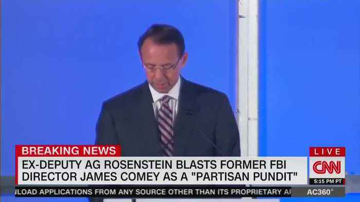 Rod Rosenstein unloads on Comey for being partisan hack