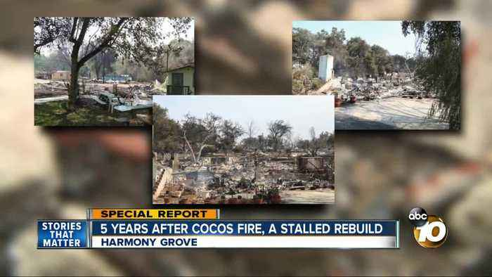 5 years after Cocos Fire, community in north San Diego County is slow to rebuild