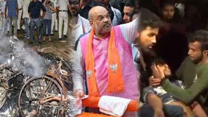 Amit Shah states, TMC clash in Road Show after being frustated with massive turnout