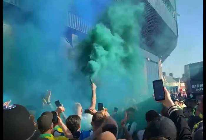 West Brom Fans Set Off Smoke Flares Outside Stadium Before Aston Villa Match