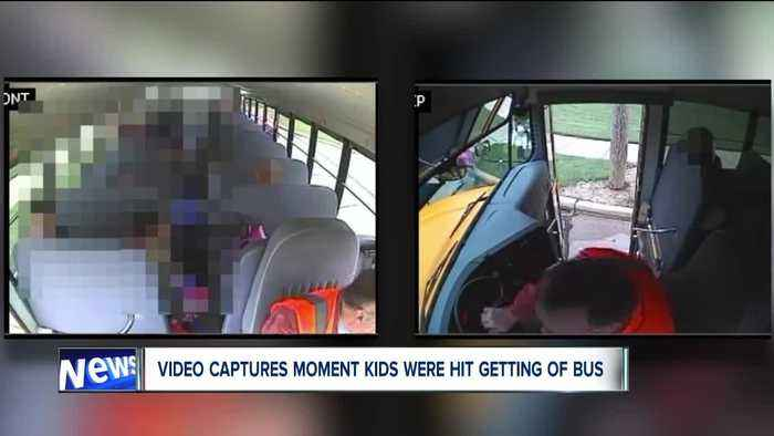 From inside the bus, video captures the terrifying moment Willowick students were hit
