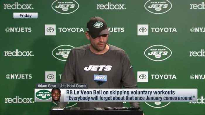 New York Jets head coach Adam Gase on running back Le'Veon Bell's OTA absence: 'Every year that he's played, he's been ready to