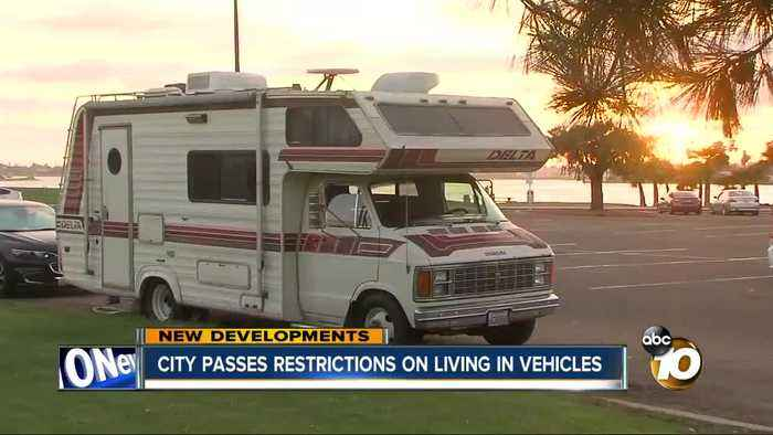 San Diego passes new law to limit habitation in vehicles