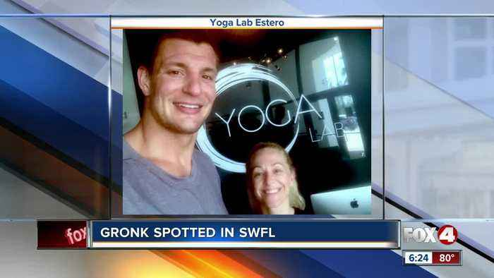 Football legend Gronk visits Southwest Florida yoga studio