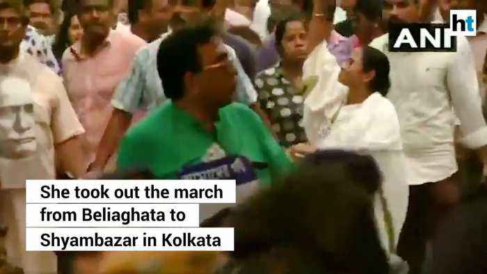 Mamata Banerjee holds march a day after violent BJP-TMC clashes in Kolkata