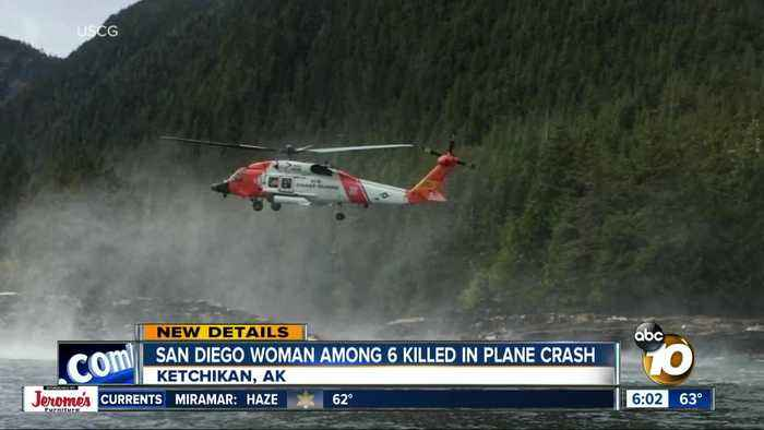 San Diego resident identified as one of six killed in Alaska plane crash