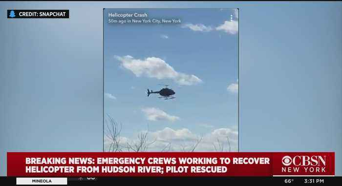 Emergency Crews Working To Recover Crashed Helicopter From Hudson River