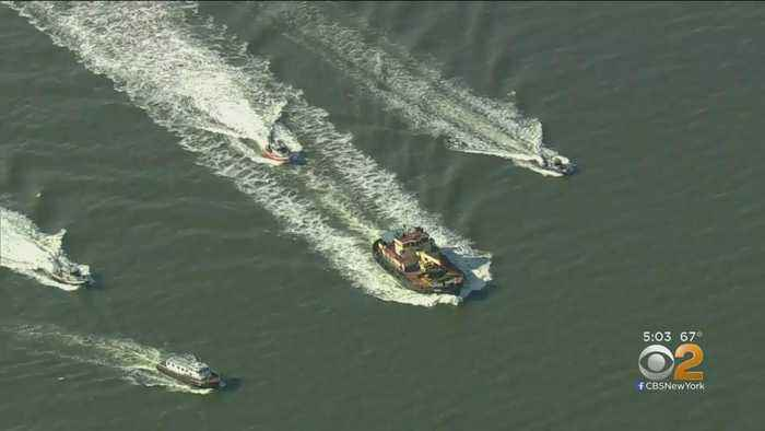 Ferries Help Rescue Pilot After Helicopter Crash