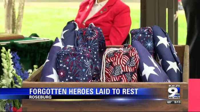 Remains of unclaimed WWI veterans laid to rest in Roseburg
