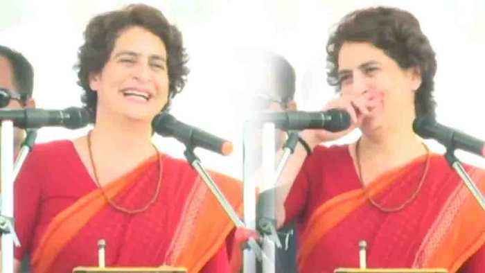 Priyanka Gandhi Vadra laughs during her speech in Salempur | Oneindia News