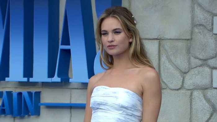 Lily James carries mini-Matt Smith around in her purse
