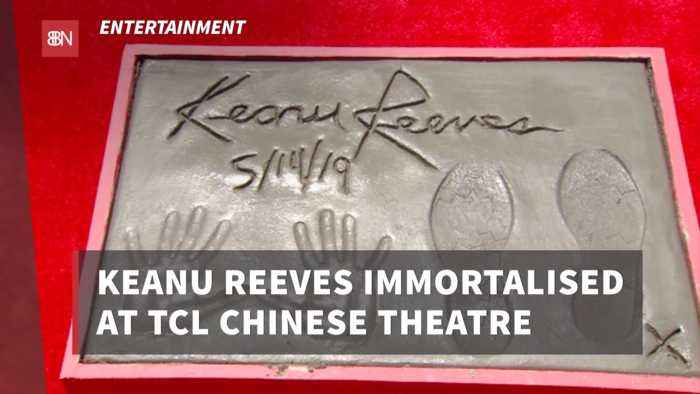 Keanu Reeves Hand And Footprint At TCL Chinese Theatre