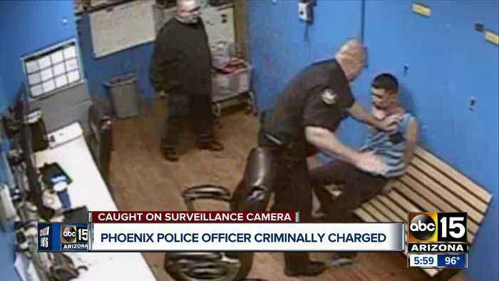 Phoenix officer charged with assault for slapping handcuffed man